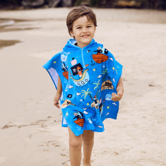 Kids' Pirates Towel Poncho
