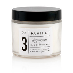 Soy & Coconut Candle (Monochrome Range) - Lemongrass