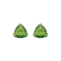 Crystal studs in peridot