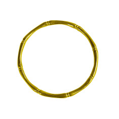 Bamboo Round Bangle in 18 KT Yellow Gold Plate