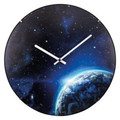 Globe Dome glow in the dark Luminous wall clock 35cm domed glass