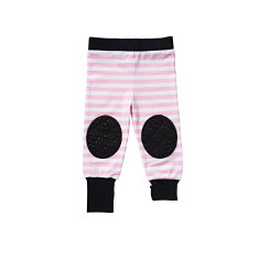 Pink Stripe Crawl-pants