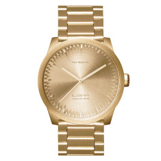 LEFF Amsterdam tube watch S42 brass finish
