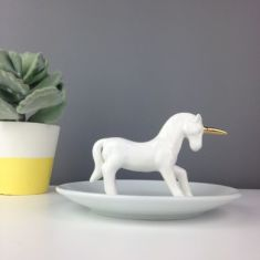 Personalised Unicorn Ring And Jewellery Dish