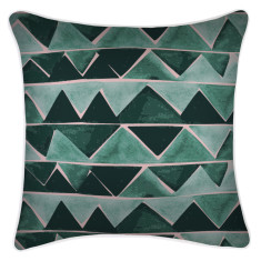 Outdoor Cushion Cover-Zig Zag Green (various sizes)