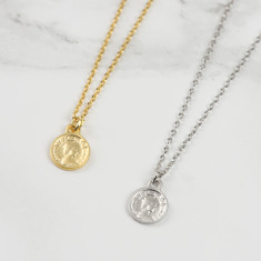 Tiny Lucky Penny Coin Necklace