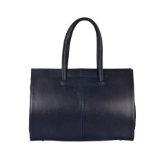 New Cartella navy leather work bag