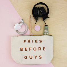 Fries Before Guys Valentine Make Up Accessory Bag