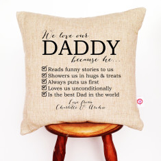 Tick of approval personalised cushion cover