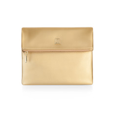 Caviette Gold Fold Over Clutch