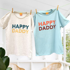 His and His Happy Daddy Duo Father's Day T-Shirt Twinset
