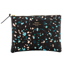 Woouf Pouch Large - Black Terrazzo