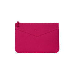 Lena clutch in pink Italian leather