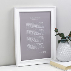 Your special words vintage style personalised print (various colours)