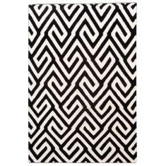 Ebony & Ivory flat weave wool rug