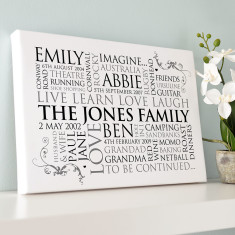 Personalised Family Word Art