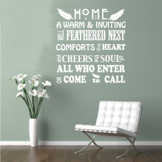 Feathered nest decal