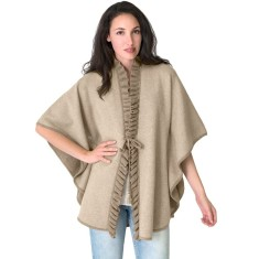 Wool & Cashmere Reversible Poncho