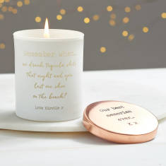 Personalised 'Remember when...' Glow Through Candle