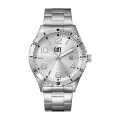 CAT Camden series mid size watch in steel & silver face