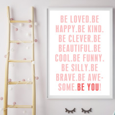Be you! girl's art print (various sizes)