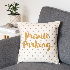 Private Parking Cushion Cover