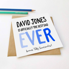 Personalised father's Day greeting card