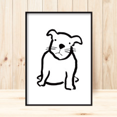 Pug puppy children's art print (more colours)