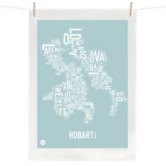 Hobart tea towel