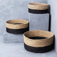 Lowline Contrast Seagrass Basket