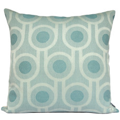 Benedict blue large repeat woven wool cushion cover