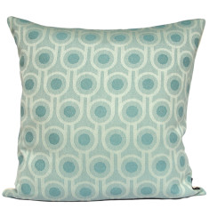 Benedict blue small repeat woven wool cushion cover