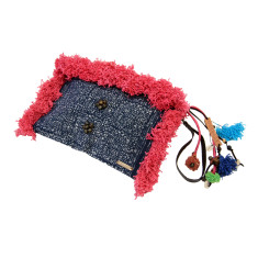 Holly star clutch in pink