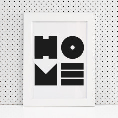 Home shapes print