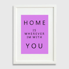 Home art print in purple