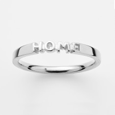 Home ring in silver