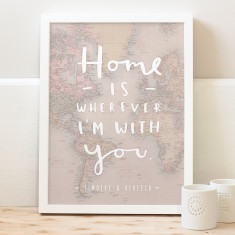 Personalised home map print