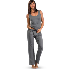 Organic pima cotton lounge pants in French grey