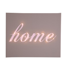 Home illuminated canvas