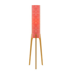 Phoebe original lamp with red homelines paper and tri base