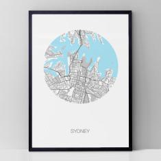 Sydney round print