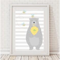 Honey bear nursery print (boy or girl)