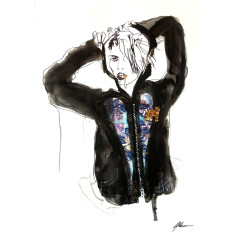 Limited edition hoodie fashion giclee archival print