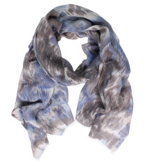 Faded print wool mix scarf (various colours)