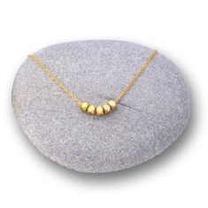 Golden Nuggets Necklace (gold or silver chain)