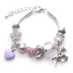 I love horses children's charm bracelet