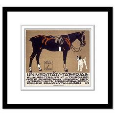 Horse and fox terrier art print