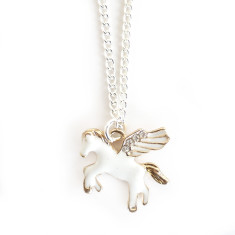 Chain necklace with gold horse
