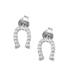 Sparkling horseshoe earrings