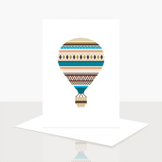 Hot Air Balloon Greeting Card (Pack of 8)